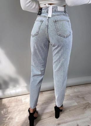 Джинси мом штани mom висока посадка турция9 фото