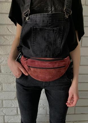 Мини компактная эко-сумочка яркая на лето,поясная через плечо унисекс б19