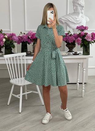 Идеальное платье, р. 42,44,46,48,50, штапель, мята