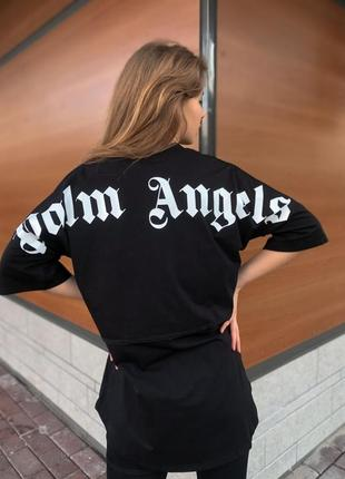 Футболка черная оверсайз унисекс, palm angels
