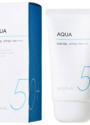 Солнцезащитный гель spf50+/pa+++ missha all around safe block aqua sun gel