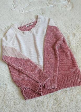 Плюшевый свитшот свитер кофта вельветовая оверсайз світер кофта плюшева рожева