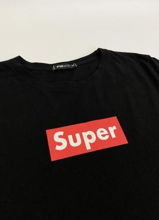 Чёрная женская футболка с принтом fb sister4 фото