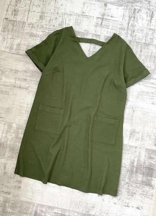 Льняное платье лен вискоза
