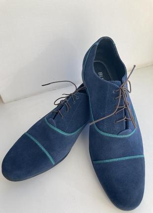 Замшеві чоловічі туфлі bugatchi/мужские замшевые туфли bugatchi