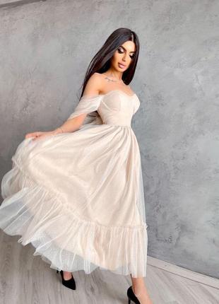Платье-бюстье с пышной юбкой 15361