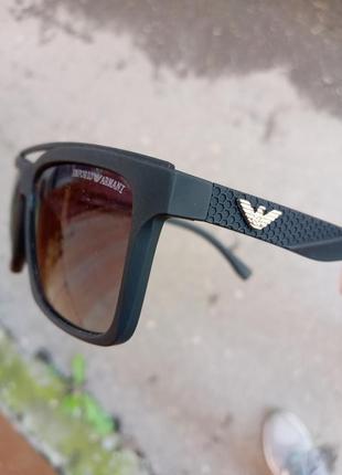 Крутые очки в стиле вайфареры мягкая прорезиненная оправа италия polarized унисекс
