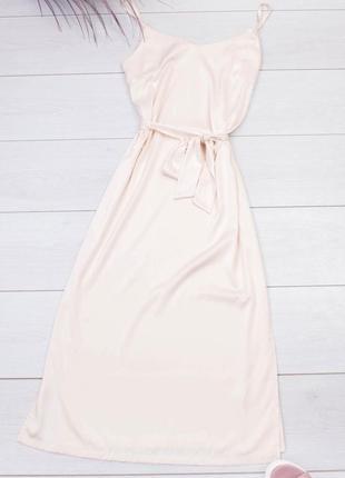 Молочное платье
