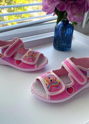 Тапочки сандали текстильные яркие лёгкие