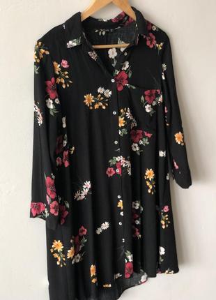 Платье цветы stradivarius
