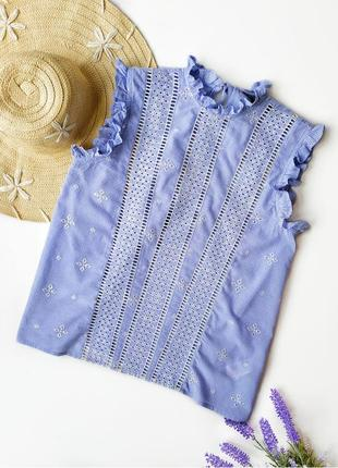 Шикарная воздушная хлопковая блуза прошва .