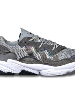 Кроссовки мужские adidas ozweego, grey/gradients