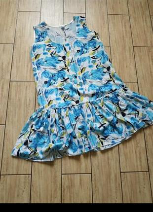 Платье свободного кроя в цветочный принт