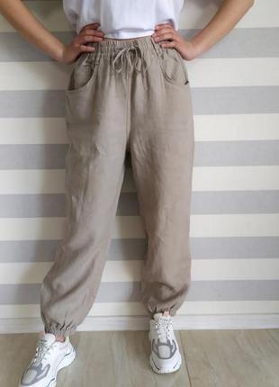 Стильные льняные брюки zara новых коллекций,