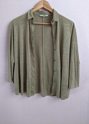 Льняная рубашка оверсайз, 100% лен