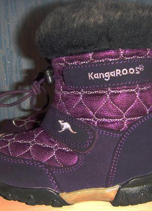 Ботинки kangaroos, дев, зима, 24, б. у.
