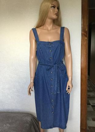 Платье джинсовое миди papaya размер 16/18
