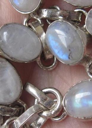 Браслет природный лунный камень, браслет адуляр