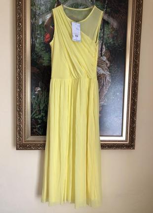 Лимонна сукня платье жолтое asos warehouse