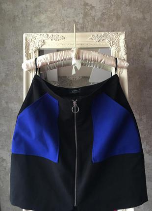 Стильная юбка с накладными карманами