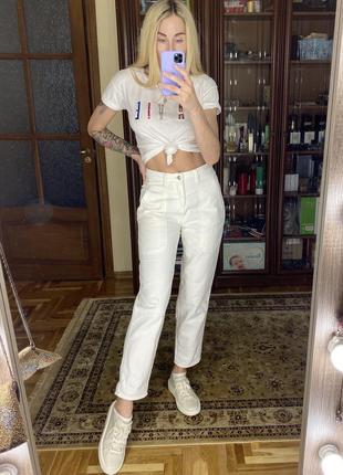 Высокие джинсы baggy jeans mom high rise в стиле 90-х