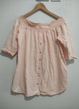 Хлопковая блуза туника большого размера