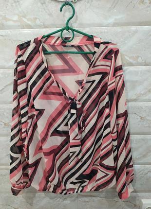 Тоненька блуза з довгим рукавом george, eur 42