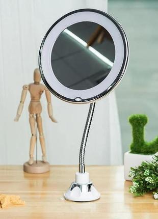 Зеркало для макияжа 10х с led подсветкой