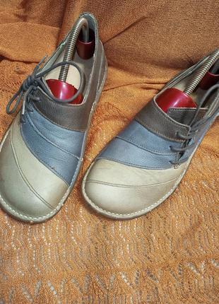 Комфортные ортопедические туфли,мокасины на широкую стопу,40,5-41,5разм.