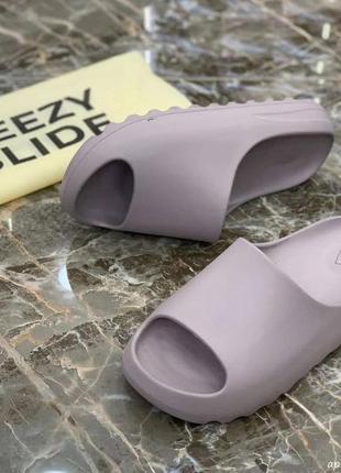 Хит этого лета!! сиреневые шлёпанцы от adidas yeezy slide