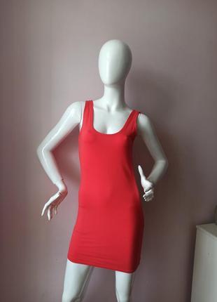 Кораловое плаття майка платье3 фото
