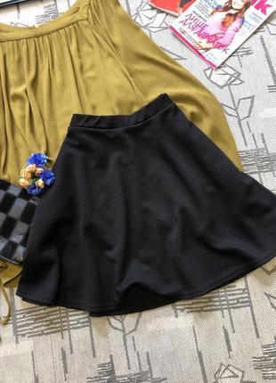 Базовая юбка клеш, new look, размер 12-142 фото