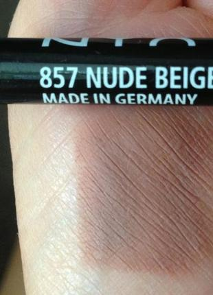 Карандаш для губ nyx nude beige 857