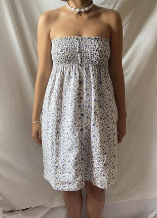 Льняное платье сарафан mango