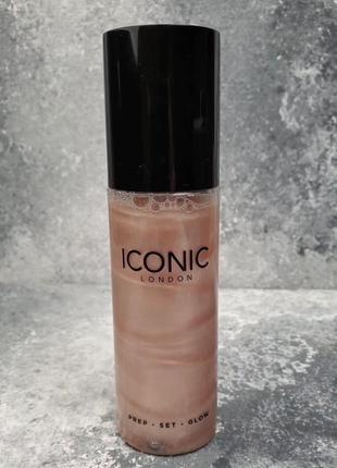 Сияющий мист для лица и тела iconic london prep-set-glow skin spray original