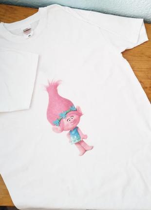 Белая футболка в стиле zara снуфрик, футболка оверсайз