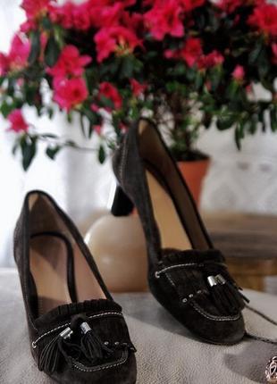 Bally брендовые натуральные кожаные замшевые классические туфли лодочки на устойчивом каблуке