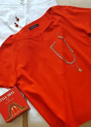 Якісна футболка преміум бренду marc cain віскоза блузка короткий рукав