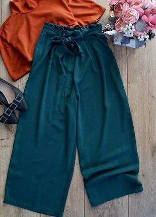 Primark класні кюлоти з поясом.літні брюки.розмір м2 фото