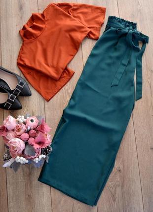 Primark класні кюлоти з поясом.літні брюки.розмір м1 фото