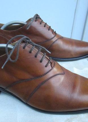 "Кожаные туфли  "" passissimo "". 42 р. ( 28.5 см. )  италия."