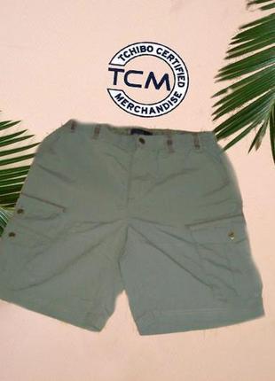 🐳🐳 tcm легкие шорты мужские плащевка с множеством карманов 48/50 т/серая оливка🐳🐳
