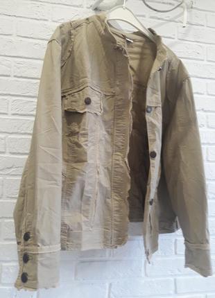 Модная куртка коттоновая батал