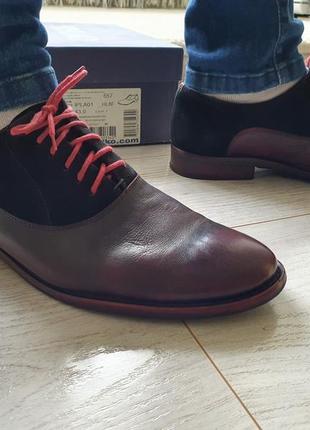 Стильные кожанные туфли польша