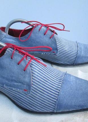 """Летние,  джинсовые туфли  """" sacha london """". 42 р. 28 см. португалия."""