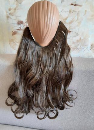 Шиньон искуственные волосы золостистый шатен