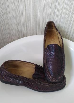 Мокасины туфли кожаные, roxy,италия,37-37,5