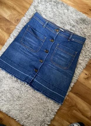 Юбка джинсовая на пуговицах zara