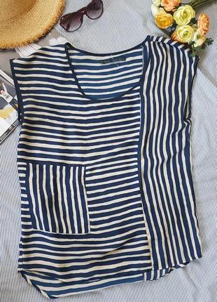 Блуза майка футболка  в полоску