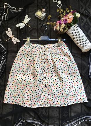 Нежнейшая шифоновая юбка в горох, размер s